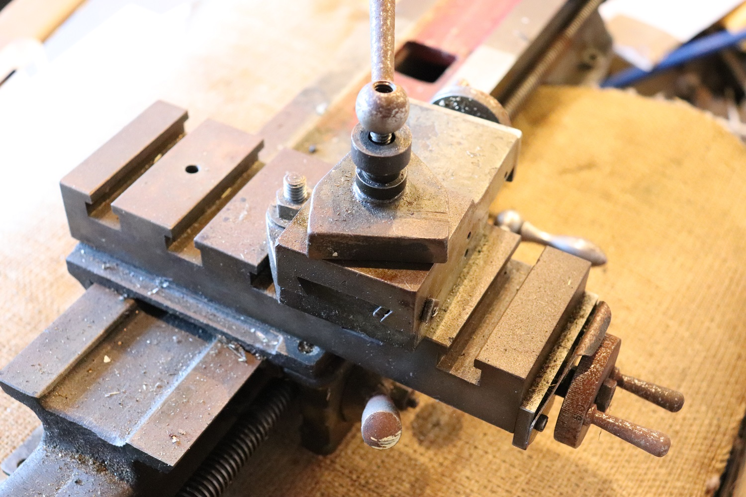 The lathe carriage